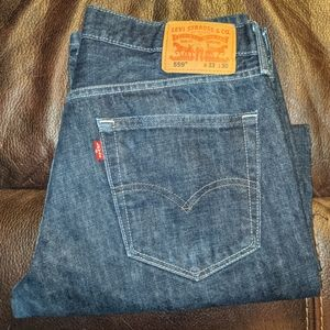 Men's Levi's 559 relaxed dark wash jeans, 33/30